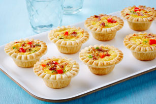 Mini Cheese & Bacon Quiche Appetizers Image 1