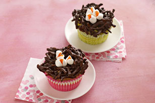 Mini Cheesecake Birds' Nests