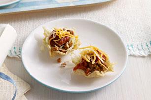Mini-bols de salade de tacos en amuse-gueule Image 1
