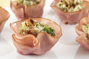 Mini Broccoli & Ham Cups