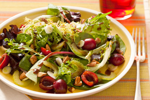 Mixed Salad Greens & Cherries