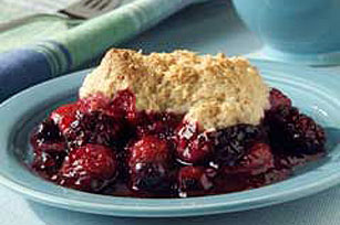 Biscuit-Topped Mixed Berry Cobbler Image 1