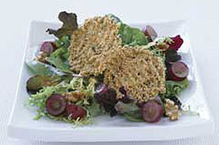 Mixed Greens with Parmesan Crisps