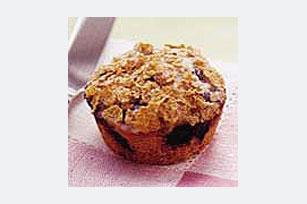 Muffins de cereal y frutas del bosque