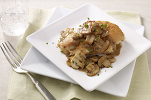 Mushroom Chicken in Dijon-Wine Sauce