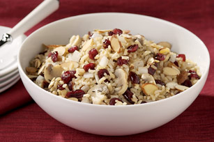 Mushroom, Almond and Cranberry Rice Pilaf