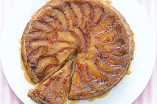 Nectarine Lemon Upside-Down Cake