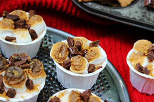 No Bake S'Mores Mini Cheesecakes Image 1