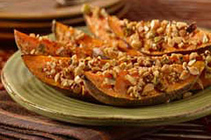 Nut-Topped Sweet Potato Wedges Image 1