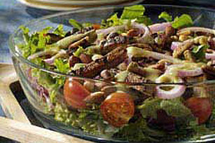 Nutty Layered Beef Salad Image 1