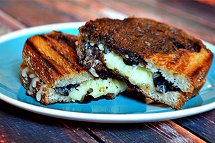 Olive and Mozzarella Grilled Cheese
