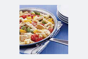 One-Pan Chicken,Tomato and Pepper Pasta