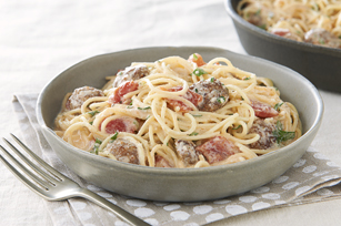One-Skillet Capellini Pomodoro with Sausage Image 1