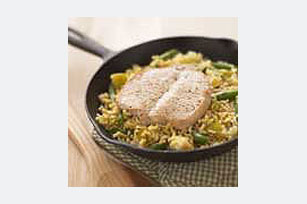 One-Skillet Honey Mustard Pork Chops Image 1