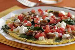 Open-Face Feta Omelet