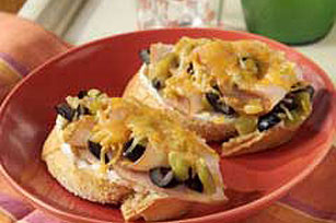 Open-Face Southwest Turkey Sandwich