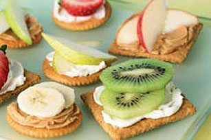 Open-Face Cracker Sandwiches Image 1