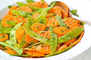 Orange-Glazed Carrots & Snow Peas Image 1