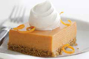 Orange-Pumpkin Mousse Squares Image 1