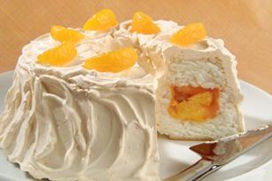 Pastel túnel secreto de naranja