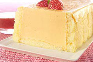 Orange Terrine with Strawberry Sauce Image 1