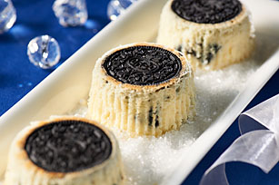 Upside-Down Mini OREO Cheesecakes