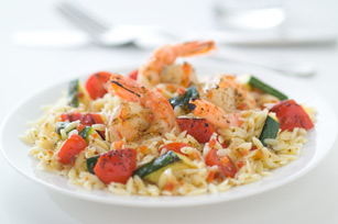 Orzo Salad with Shrimp & Pesto