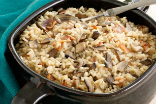 Oven-Baked Mushroom & Bacon Risotto
