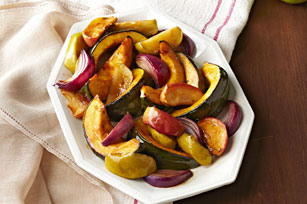 Oven-Roasted Squash, Apples & Onions