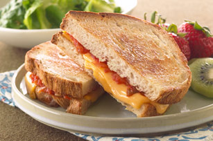 Oven-Toasted Salsa Grilled Cheese