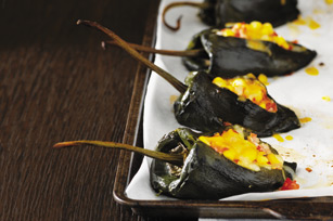Oven-Baked Stuffed Poblano Pepper Recipe