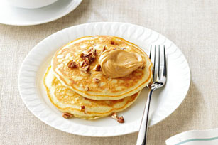 Panqueques de mantequilla de maní y plátano Image 1