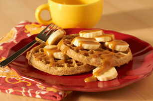 PB Honey & Banana-Topped Waffles