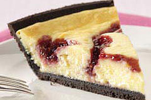 PHILADELPHIA 3-STEP White Chocolate-Raspberry Swirl Cheesecake Image 1