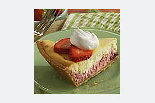 PHILADELPHIA® 3-STEP® Strawberry Layer Cheesecake Image 1