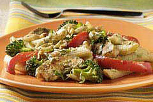 PLANTERS® Penne with Chicken and Vegetables in Basil Sauce Image 1
