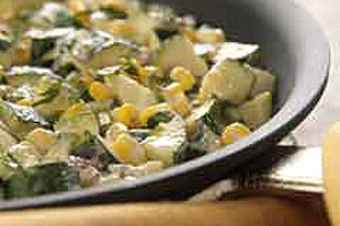 Pan-Roasted Zucchini with Corn & Chipotle Peppers Image 1