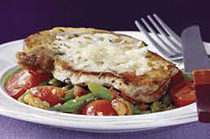 Pork Chops with Pan Roasted Walnuts & Vegetables Image 1