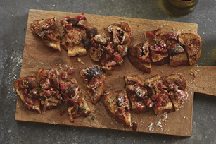 Parmesan Bruschetta with Mushroom Ragu