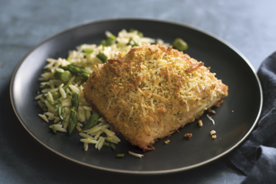 Parmesan-Herb Crusted Salmon with Citrus Orzo Image 1