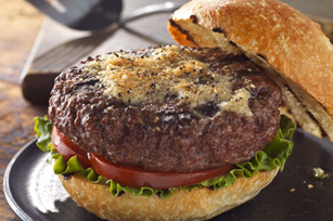 Parmesan Pepper-Crusted Burgers Image 1