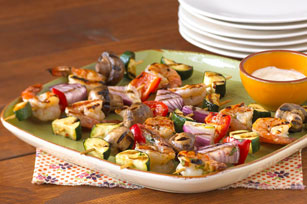 Party Shrimp and Vegetable Kabobs Image 1