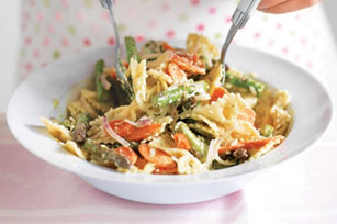 Pasta & Vegetables with Cilantro Sauce