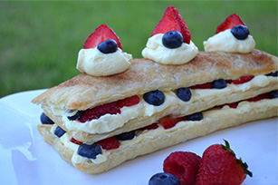 Patriotic Layered Berry Dessert Image 1