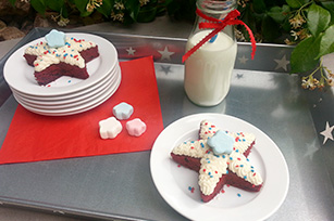 Patriotic Red Velvet Star Cakes