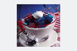 Patriotic Gelatin in a Cloud