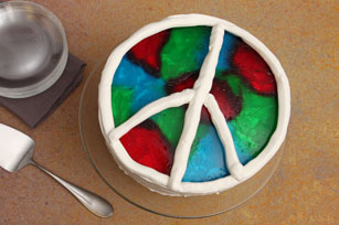 Peace-Love-JELL-O Cake