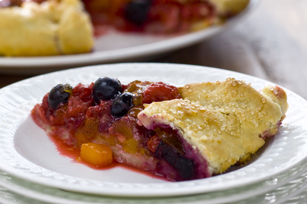Peach-Berry Fruit Tart