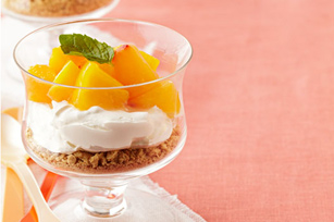 "Peach ""Cheesecake"" Parfait Image 1"