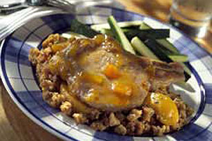 Peach-Glazed Pork Chops Image 1